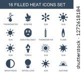 16 heat icons. trendy heat... | Shutterstock .eps vector #1272618184