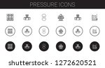 pressure icons set. collection... | Shutterstock .eps vector #1272620521