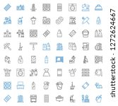 household icons set. collection ... | Shutterstock .eps vector #1272624667