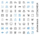 commercial icons set.... | Shutterstock .eps vector #1272624814