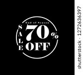 upto 70  off special offer ad.... | Shutterstock .eps vector #1272636397