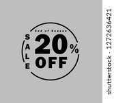 upto 20  off special offer ad.... | Shutterstock .eps vector #1272636421