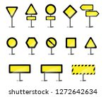 yellow road signboards on the... | Shutterstock .eps vector #1272642634