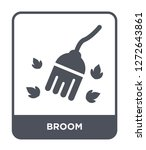 broom icon vector on white... | Shutterstock .eps vector #1272643861