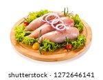 fresh raw chicken fillet on... | Shutterstock . vector #1272646141