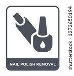 nail polish removal icon vector ... | Shutterstock .eps vector #1272650194