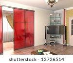 modern interior design  3d... | Shutterstock . vector #12726514