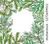 christmas background. hand... | Shutterstock . vector #1272659011