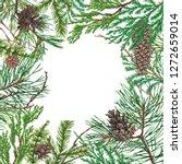 christmas background. hand... | Shutterstock . vector #1272659014