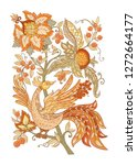 floral decorative elements in... | Shutterstock .eps vector #1272664177