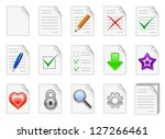 set of file management and... | Shutterstock .eps vector #127266461