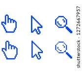 pixel hand  cursor and... | Shutterstock .eps vector #1272667957