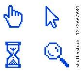 pixel hand  cursor and... | Shutterstock .eps vector #1272667984