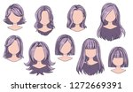 beautiful hairstyle woman... | Shutterstock .eps vector #1272669391