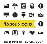 ui icons set with add  phone...