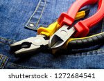 pair cutting pliers hand tools... | Shutterstock . vector #1272684541