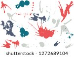 hand drawn set of colorful ink... | Shutterstock .eps vector #1272689104