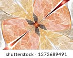 symmetric multicolor fractal...   Shutterstock . vector #1272689491