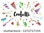 colorful confetti with party... | Shutterstock .eps vector #1272717154