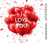 valentines day background with... | Shutterstock .eps vector #1272724111