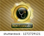 gold badge or emblem with... | Shutterstock .eps vector #1272729121
