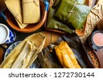authentic mexican tamal in...   Shutterstock . vector #1272730144