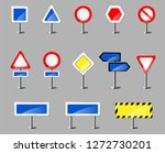 color road signboards on the... | Shutterstock .eps vector #1272730201