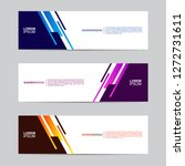 abstract banner collection with ... | Shutterstock .eps vector #1272731611