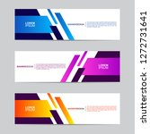 abstract banner collection with ... | Shutterstock .eps vector #1272731641
