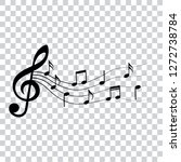 music notes  design elements ... | Shutterstock .eps vector #1272738784