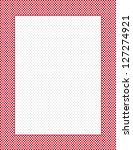 gingham check frame with polka... | Shutterstock . vector #127274921