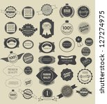 set of retro vintage labels ... | Shutterstock .eps vector #127274975