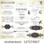 calligraphic design elements... | Shutterstock .eps vector #127275827