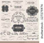 calligraphic design elements... | Shutterstock .eps vector #127275974