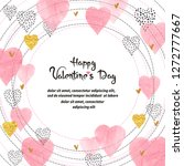 valentines day card design.... | Shutterstock .eps vector #1272777667