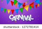 carnival banner. white paper... | Shutterstock .eps vector #1272781414