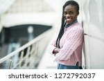 young african woman with... | Shutterstock . vector #1272792037