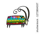 goat ornate  simple sketch for... | Shutterstock .eps vector #1272804337