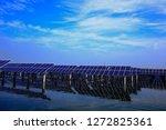solar panels on the water | Shutterstock . vector #1272825361
