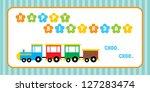 birthday train | Shutterstock .eps vector #127283474