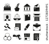 law and justice icons  | Shutterstock .eps vector #1272839491