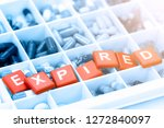 oral medicine with expiration... | Shutterstock . vector #1272840097