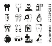 dental care icons  | Shutterstock .eps vector #1272842881
