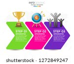 3 step of timeline infographics ... | Shutterstock .eps vector #1272849247