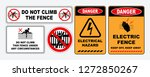 set of prohibition do not climb ... | Shutterstock .eps vector #1272850267