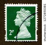 united kingdom stamp no circa...   Shutterstock . vector #1272850381