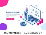 data science  isometric concept ... | Shutterstock .eps vector #1272860197