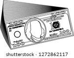 bunch of 100 us dollar banknote ...   Shutterstock .eps vector #1272862117