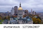 downtown buildings under a dark ...   Shutterstock . vector #1272862807