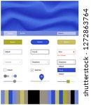light blue  yellow vector ui ux ...